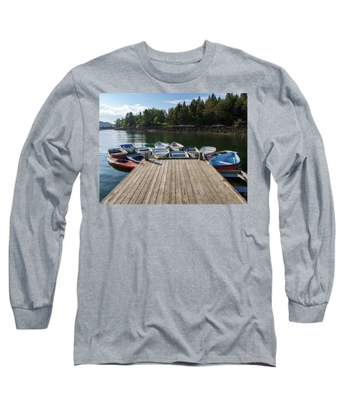 Winter Harbor Maine  Long Sleeve T-Shirt by Trace Kittrell