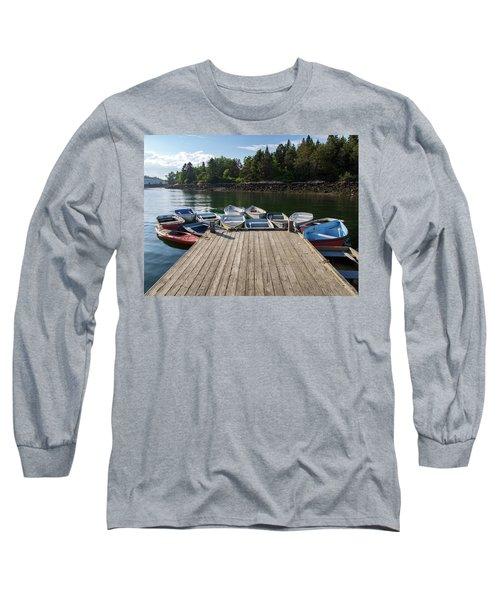 Winter Harbor Maine  Long Sleeve T-Shirt