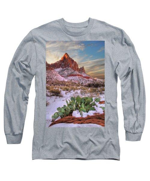 Winter In Zion National Park Utah Long Sleeve T-Shirt