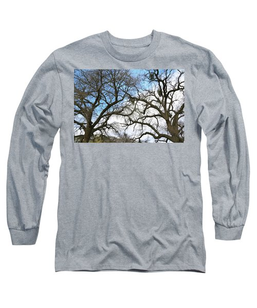 Long Sleeve T-Shirt featuring the photograph Winter Trees At Fort Tejon Lebec California  by Floyd Snyder