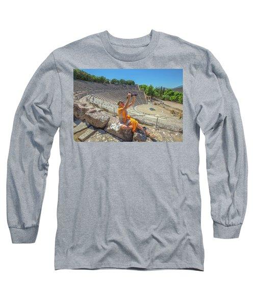 Woman Photographer Selfie Long Sleeve T-Shirt