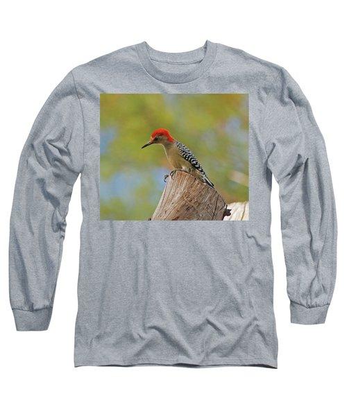 Long Sleeve T-Shirt featuring the digital art 1- Woodpecker by Joseph Keane
