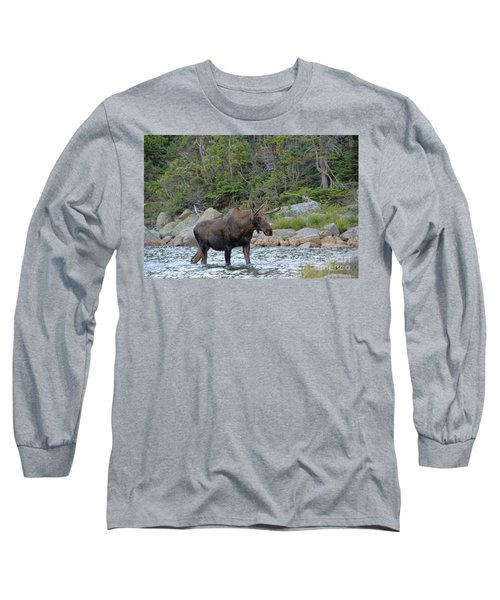 Young Bull Moose Long Sleeve T-Shirt