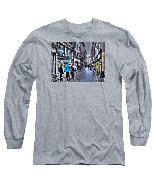 Long Sleeve T-Shirt featuring the pyrography Yury Bashkin Stokholm Street by Yury Bashkin