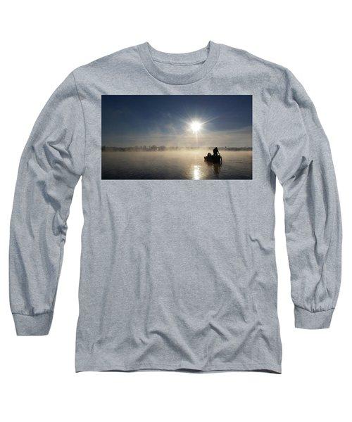 10 Below Zero Fishing Long Sleeve T-Shirt by Brook Burling