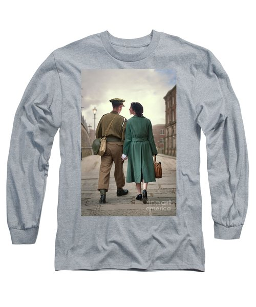 1940s Couple Long Sleeve T-Shirt by Lee Avison