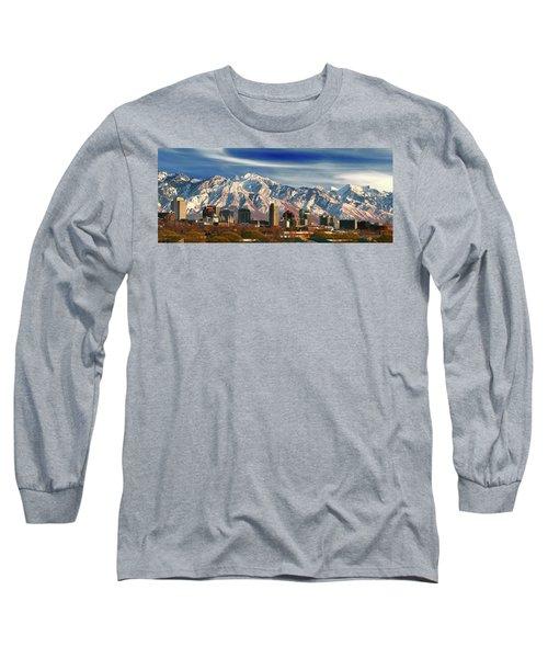 Salt Lake City Skyline Long Sleeve T-Shirt by Utah Images
