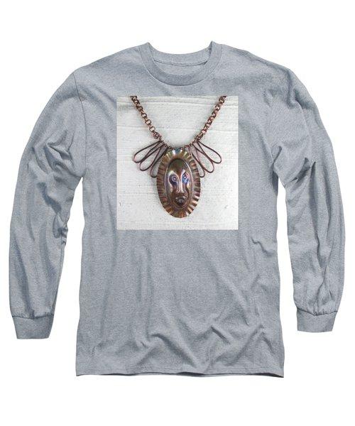 1254 Tribal Mask Long Sleeve T-Shirt