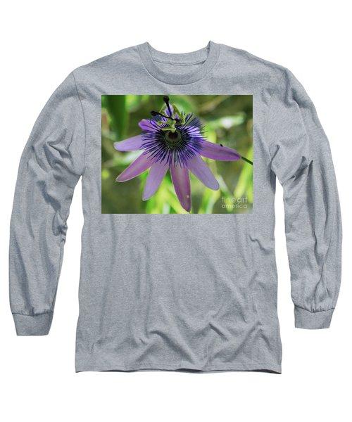 Purple Passiflora Long Sleeve T-Shirt