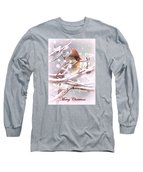 1554-003 Cardinal Long Sleeve T-Shirt by Travis Truelove