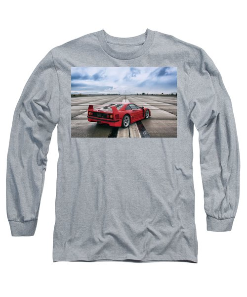 Long Sleeve T-Shirt featuring the photograph #ferrari #f40 #print by ItzKirb Photography