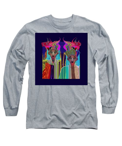 1800 - Magic Ladies -2017 Long Sleeve T-Shirt by Irmgard Schoendorf Welch