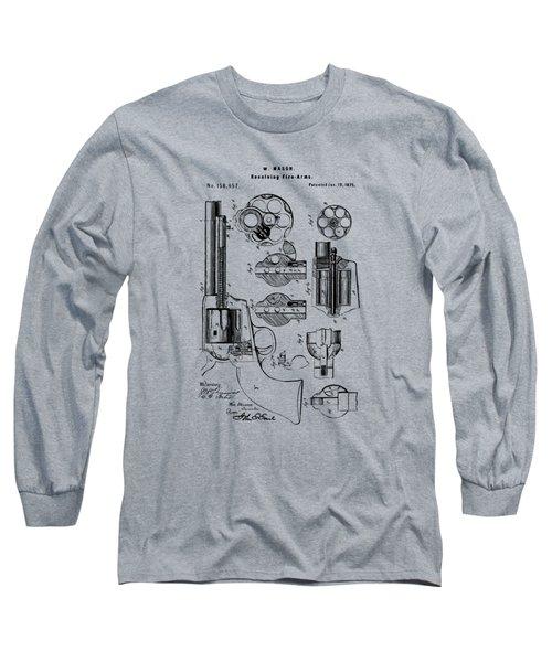 1875 Colt Peacemaker Revolver Patent Vintage Long Sleeve T-Shirt