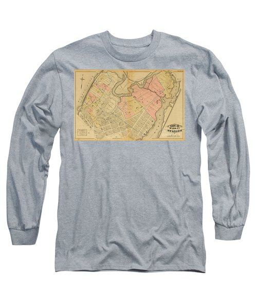 1879 Inwood Map  Long Sleeve T-Shirt by Cole Thompson