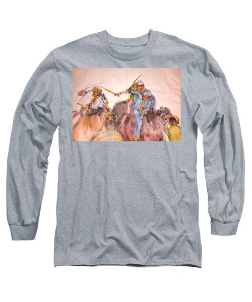 Long Sleeve T-Shirt featuring the painting Il Palio Contrada  Lupa Album by Debbi Saccomanno Chan