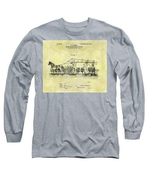 1907 Cotton Harvester Patent Long Sleeve T-Shirt