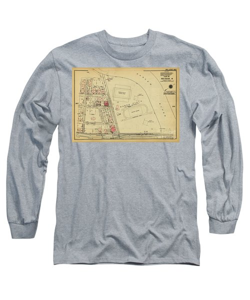 Long Sleeve T-Shirt featuring the photograph 1927 Baker Field Map  by Cole Thompson