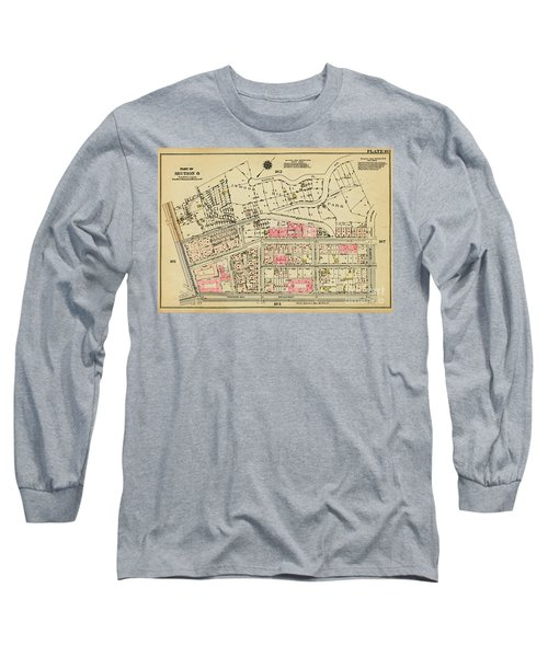 Long Sleeve T-Shirt featuring the photograph 1927 Inwood Map  by Cole Thompson
