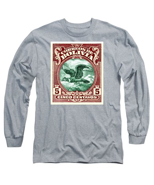 1928 Bolivia Andean Condor Postage Stamp Long Sleeve T-Shirt