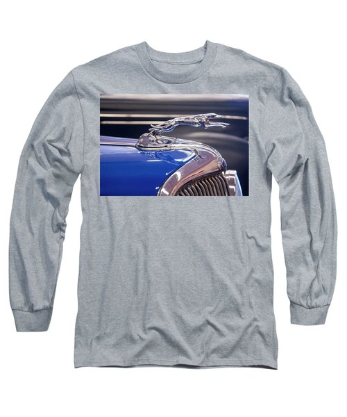 Long Sleeve T-Shirt featuring the digital art 1934  Ford Greyhound Hood Ornament by Chris Flees