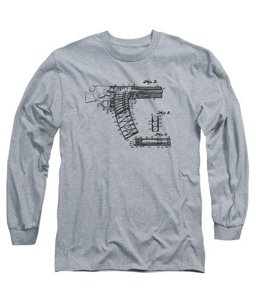 1937 Police Remington Model 8 Magazine Patent Minimal - Vintage Long Sleeve T-Shirt