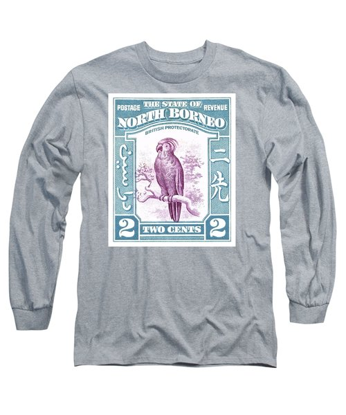 1939 North Borneo Palm Cockatoo Postage Stamp Long Sleeve T-Shirt