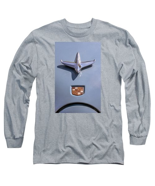 Long Sleeve T-Shirt featuring the photograph 1951 Studebaker Champion Hood Ornament by Betty Denise