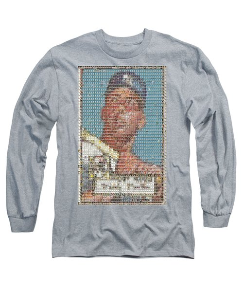 1952 Topps Mickey Mantle Rookie Card Mosaic Long Sleeve T-Shirt