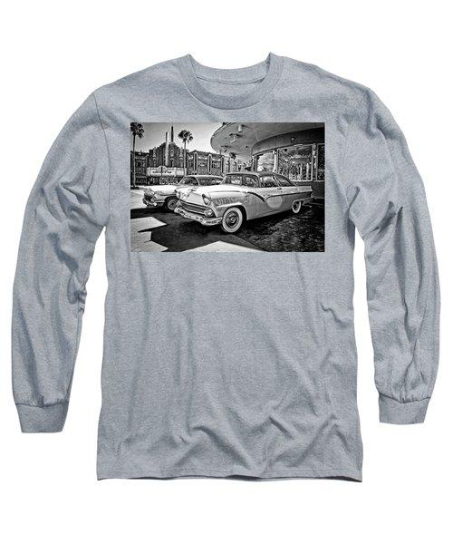 1955 Fairlane Crown Victoria Bw Long Sleeve T-Shirt