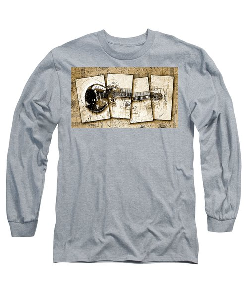 1955 Les Paul Custom Black Beauty V5 Long Sleeve T-Shirt by Gary Bodnar