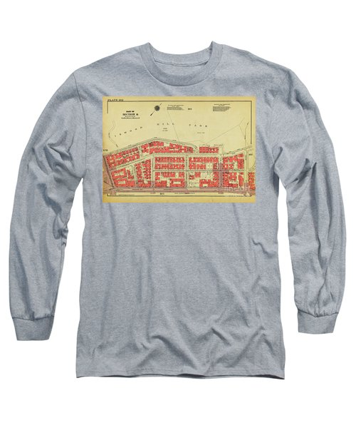 Long Sleeve T-Shirt featuring the photograph 1956 Inwood Map  by Cole Thompson