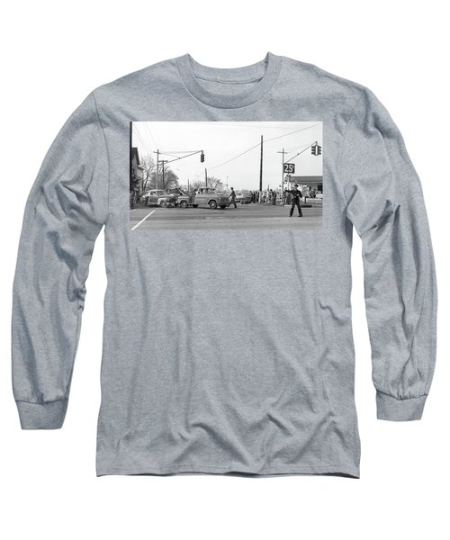 1957 Car Accident Long Sleeve T-Shirt