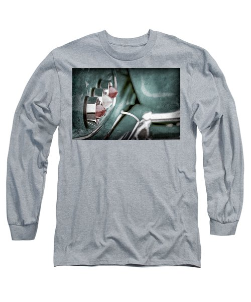 Long Sleeve T-Shirt featuring the photograph 1958 Chevrolet Impala Taillight -0544ac by Jill Reger