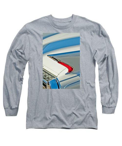 Long Sleeve T-Shirt featuring the photograph 1960 Cadillac Eldorado Biarritz Convertible Taillight by Jill Reger