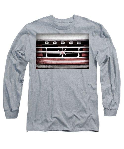 Long Sleeve T-Shirt featuring the photograph 1960 Dodge Truck Grille Emblem -0275ac by Jill Reger