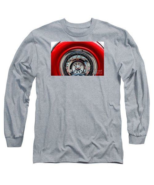 Long Sleeve T-Shirt featuring the photograph 1958 Ford Crown Victoria Wheel by M G Whittingham