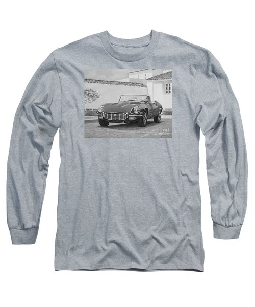 1961 Jaguar Xke Cabriolet In Black And White Long Sleeve T-Shirt