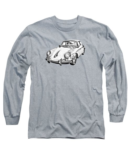 1962  Porsche 356 E Illustration Long Sleeve T-Shirt by Keith Webber Jr