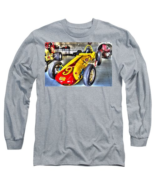 1963 Eddie Sachs Indy Car Long Sleeve T-Shirt by Josh Williams