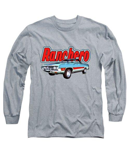 1971 Ford Ranchero At Three Palms - 5th Generation Of Ranchero Long Sleeve T-Shirt