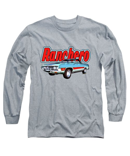 1971 Ford Ranchero At Three Palms - 5th Generation Of Ranchero Long Sleeve T-Shirt
