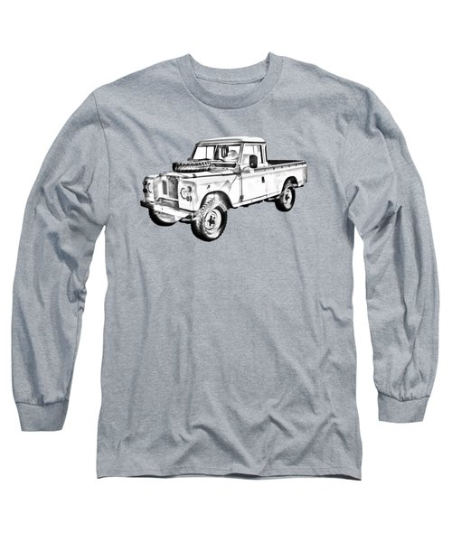 1971 Land Rover Pick Up Truck Drawing Long Sleeve T-Shirt