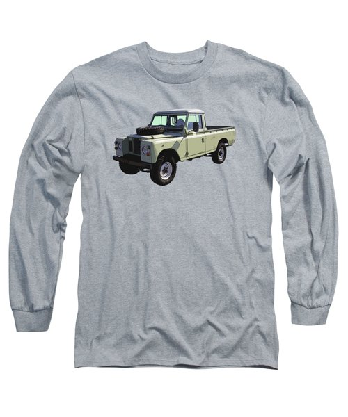 1971 Land Rover Pickup Truck Long Sleeve T-Shirt by Keith Webber Jr