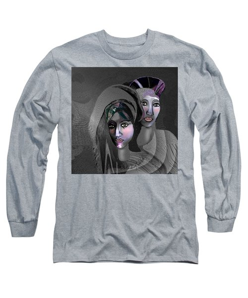 Long Sleeve T-Shirt featuring the digital art 1973 - Exotic 2017 by Irmgard Schoendorf Welch