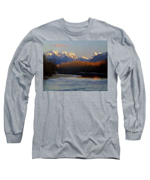 1m4525 Skykomish River And West Central Cascade Mountains Long Sleeve T-Shirt