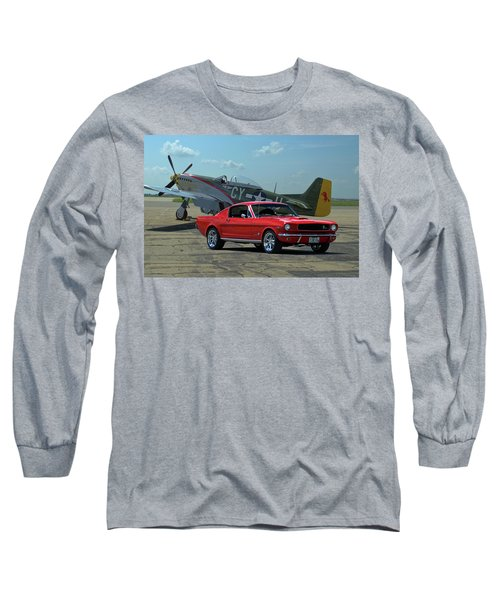1965 Mustang Fastback Long Sleeve T-Shirt by Tim McCullough