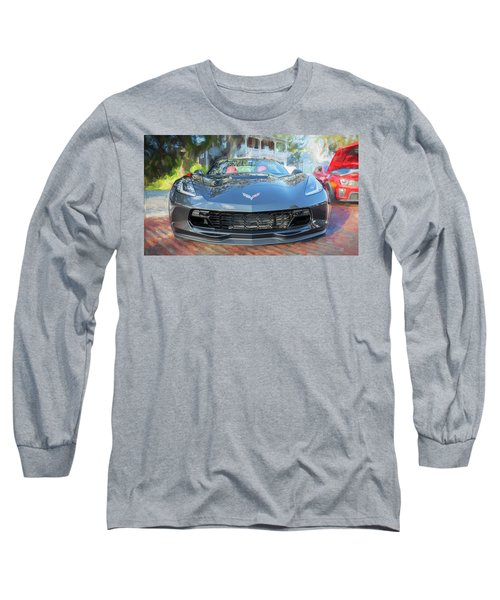 Long Sleeve T-Shirt featuring the photograph 2017 Chevrolet Corvette Gran Sport  by Rich Franco