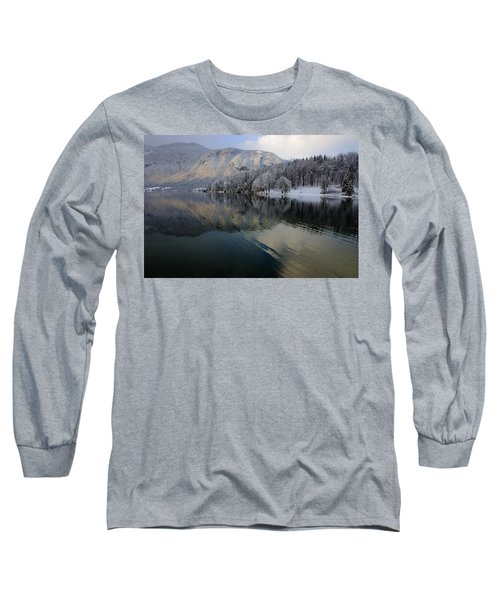 Alpine Winter Reflections Long Sleeve T-Shirt