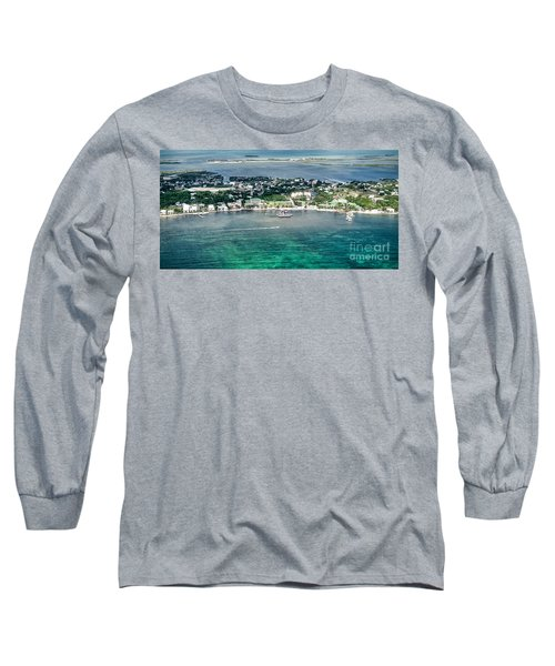 Ambergris Caye Aerial View Long Sleeve T-Shirt