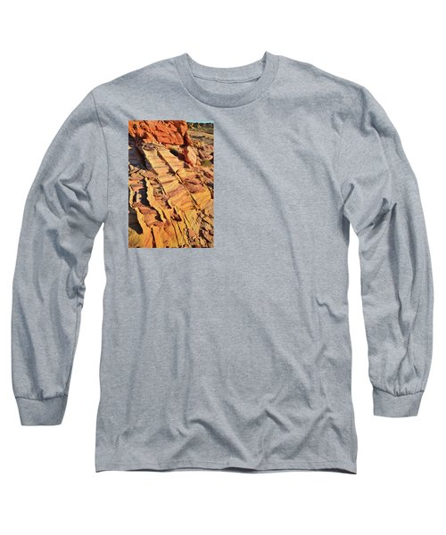 Long Sleeve T-Shirt featuring the photograph Bands Of Color In Valley Of Fire by Ray Mathis